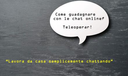 Teleoperar guadagnare con le chat online